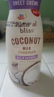 Natural bliss coconut milk creamer - Product