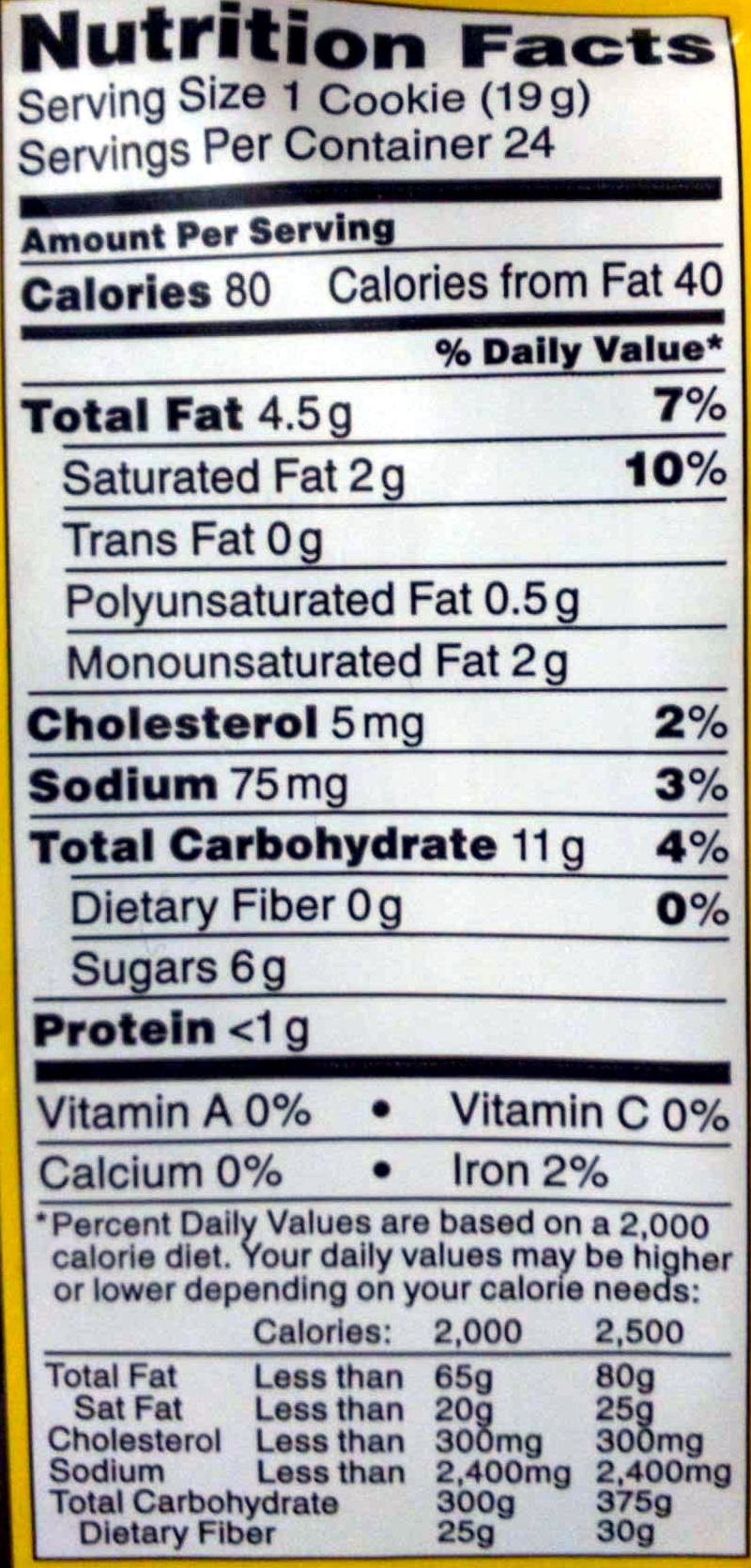 Nestles Chocolate Chips Nutrition Facts