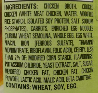 HEALTHY CHOICE Chicken Noodle Soup, 15 OZ - Ingredients - en