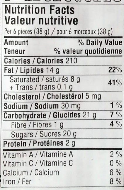 Ritter Sport Fine Milk Chocolate - Nutrition facts