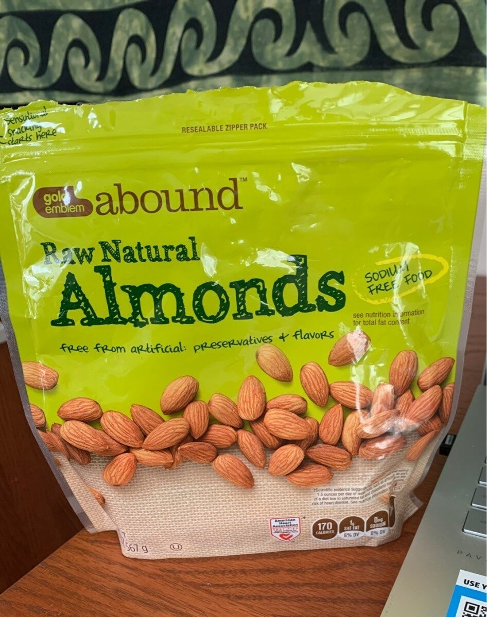 Raw Natural Almonds - Product - en