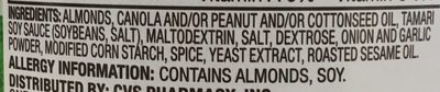 Tamari seasoned almonds - Ingredients