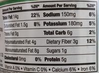 Tamari seasoned almonds - Nutrition facts