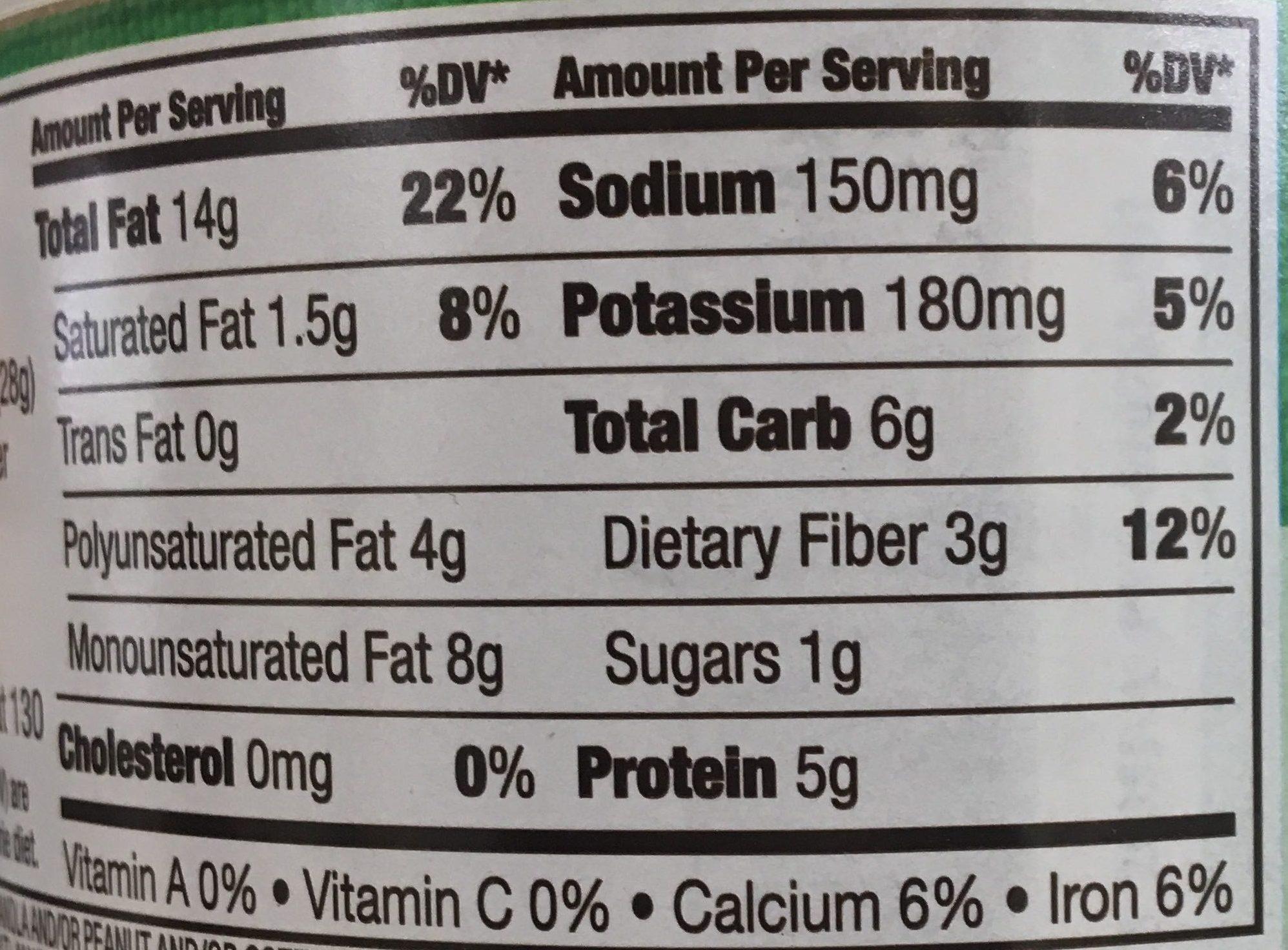Tamari seasoned almonds - Nutrition facts - en