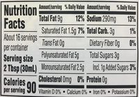 Organic Balsamic Vinaigrette - Voedingswaarden