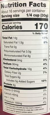 Deluxe Mixed Nuts - Nutrition facts