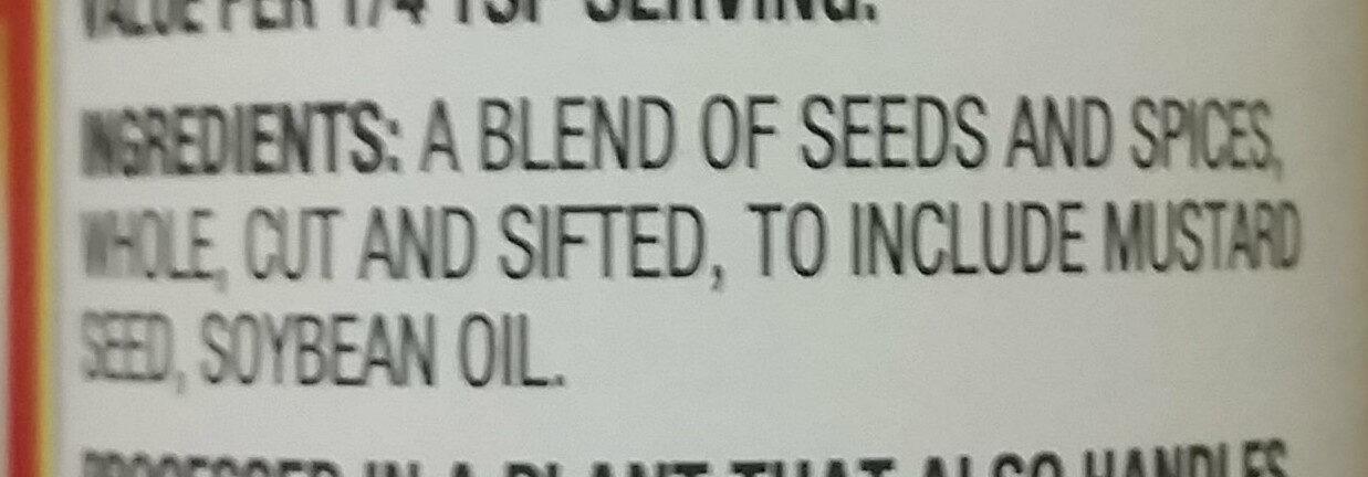Pickling Spice - Ingredients - en