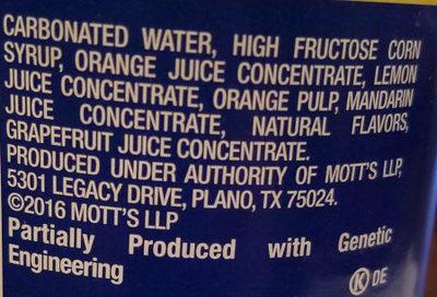 Orangina Sparkling Citrus Beverage - Ingredients - en