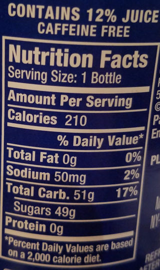 Orangina Sparkling Citrus Beverage - Nutrition facts - en
