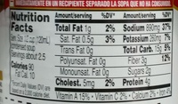 Campbell's soup vegetable beef - Nutrition facts - en