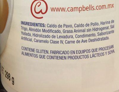 Campbell's gravy turkey - Ingredientes - es
