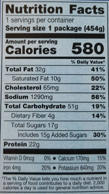 Hungry-Man Salisbury steak meal - Nutrition facts - en