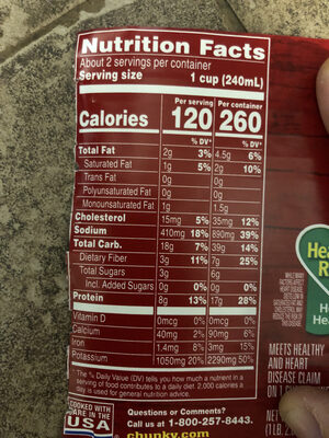 Sirloin Burger with Country Vegetables Soup - Nutrition facts - en