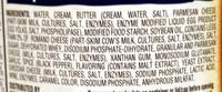 ALFREDO SAUCE - Ingredients