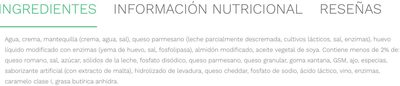 ALFREDO SAUCE ARTISAN THREE CHEESE - Inhaltsstoffe