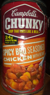 Campbell's Chunky Spicy BBQ Seasoned Chicken with Beans - Product