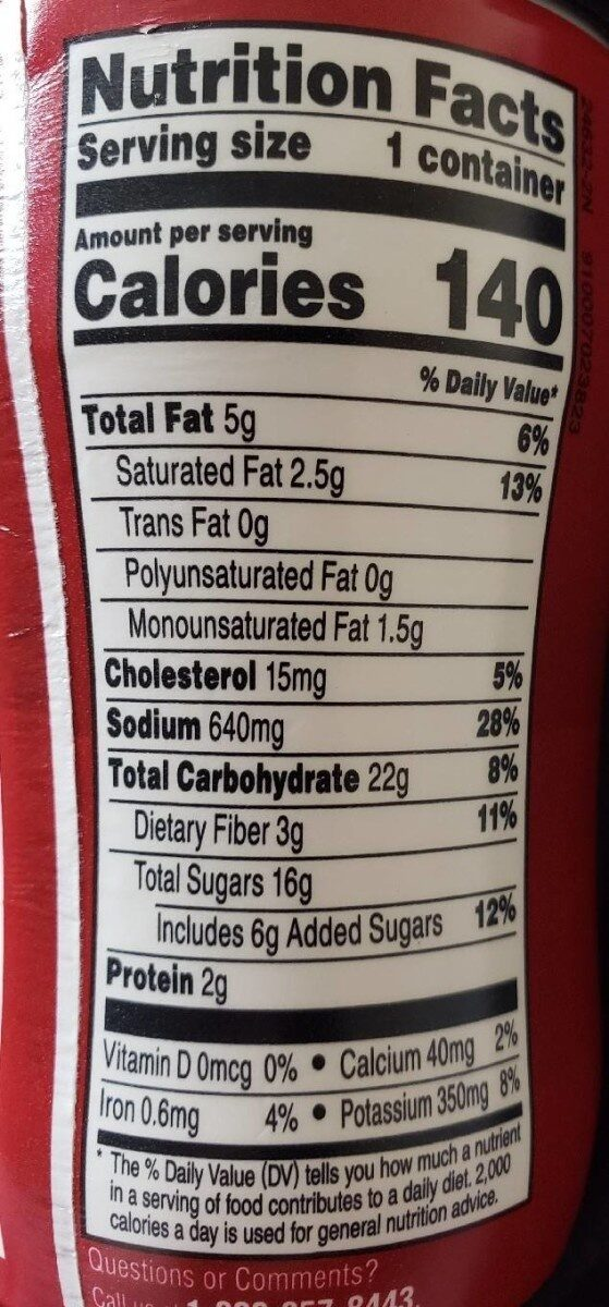 Well yes soup red pepper tomato - Nutrition facts - en