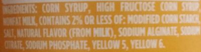 Butterscotch Flavored Topping - Ingredients - en