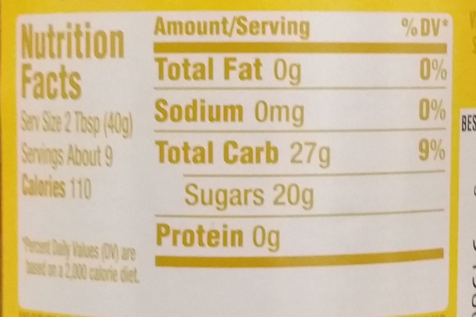 Pineapple Topping - Nutrition facts - en