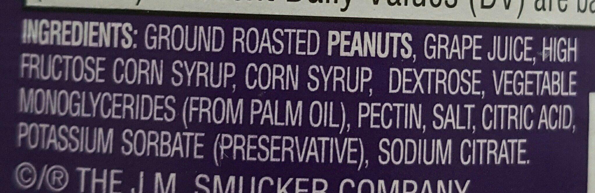 Goober grape jelly peanut butter stripes - Ingredients - en