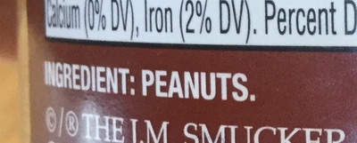 Natural peanut butter - Ingredients