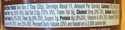 Natural peanut butter - Nutrition facts