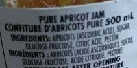 Apricot Jam - Ingrédients - en