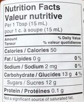 Apricot Jam - Informations nutritionnelles - en