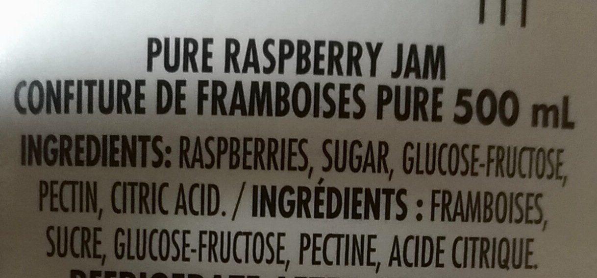 Raspberry jam - Ingrédients - fr