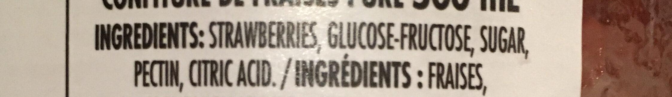 Confiture (fraise) - Ingredients - en