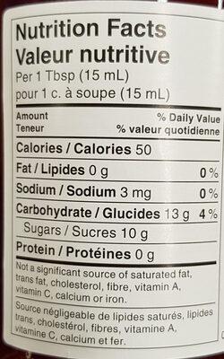 Confiture (fraise) - Nutrition facts - en