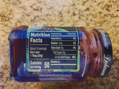 Pure Seedless Marion Blackberry Preserves - Nutrition facts - en