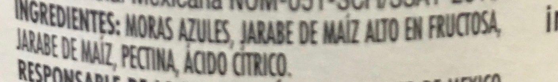 MERMELADA DE MORA AZUL - Ingrediënten - es