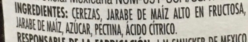 MERMELADA DE CEREZA - Ingrédients - es