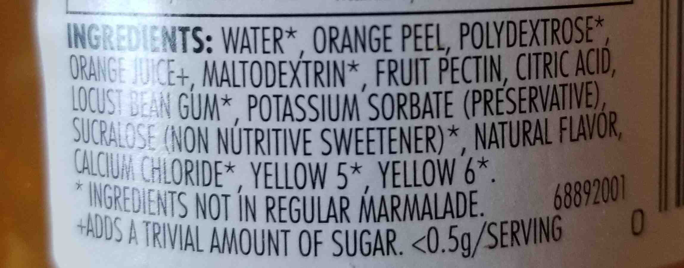 Sugar free orange marmalade - Ingrediënten - en