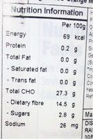 Sugar free orange marmalade - Voedingswaarden - en