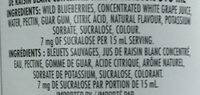 Wild blueberry spread - Ingredients - en
