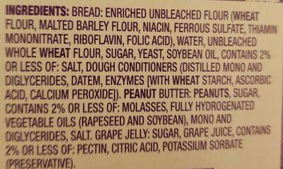 uncrustable - Ingredients