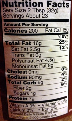 Peanut Butter CHUNKY - Nutrition facts