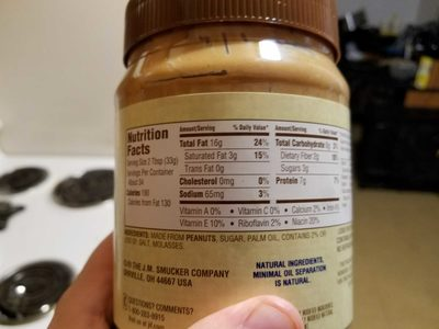 Jif Natural Crunchy Peanut Butter Spread - Product - en