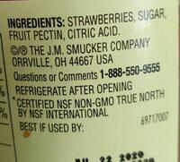 Smucker& natural strawberry preserves - Ingredients - en
