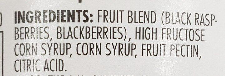 Smuckers Black raspberry-blackberry jam - Ingredients - en