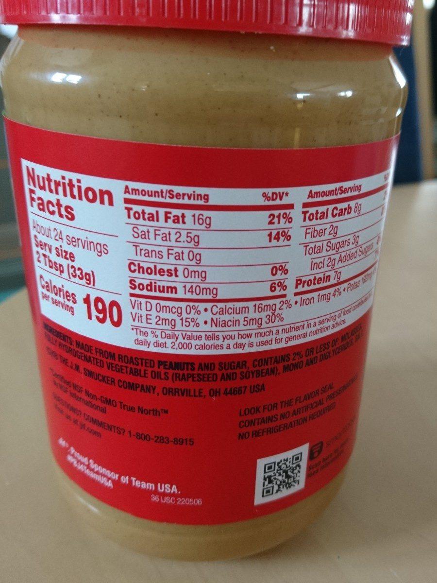 JIF Creamy Peanut Butter - Ingredients - en