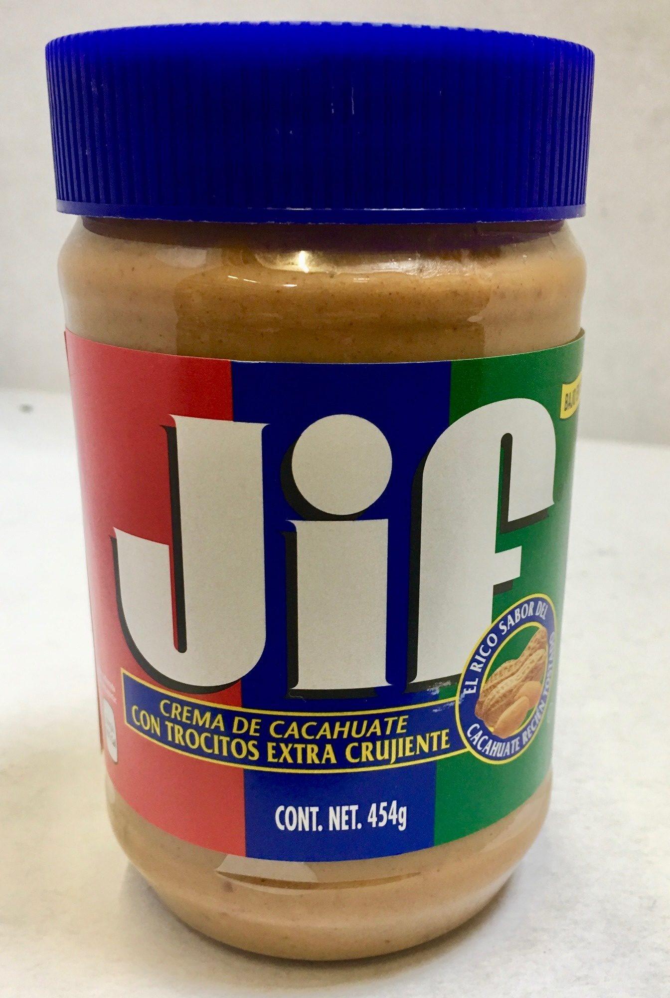 JIF crema de cacahuate con trocitos extra crujiente - Product - es