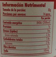 JIF crema de cacahuate con trocitos extra crujiente - Nutrition facts