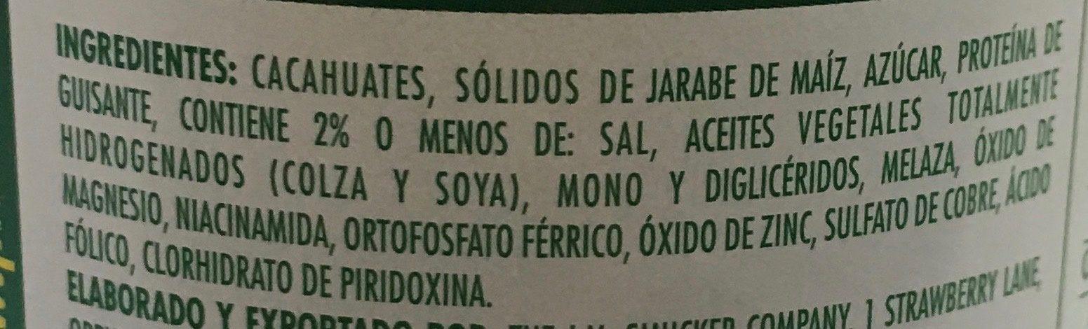 Beurre de cacahuete - Ingredients - es