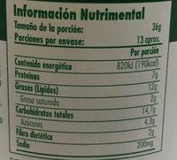 Beurre de cacahuete - Nutrition facts - es