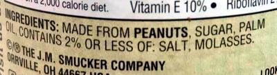 Natural Creamy Peanut Butter - Ingredients - en