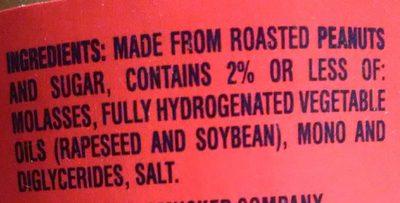 Jif Peanut Butter Creamy - Ingredients
