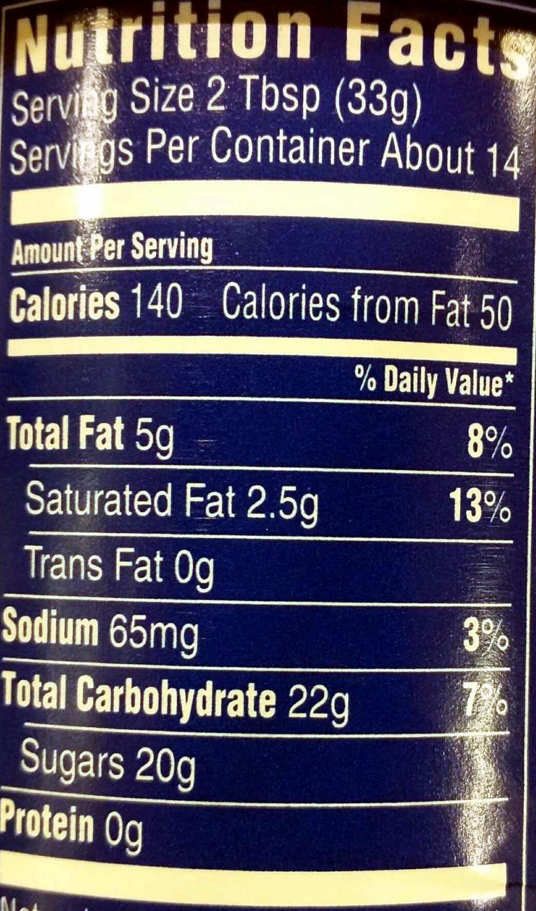 Creamy supreme vanilla - Nutrition facts - en